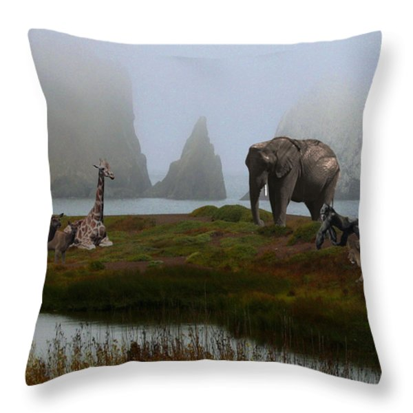 The Menagerie 2 Throw Pillow by Wingsdomain Art and Photography