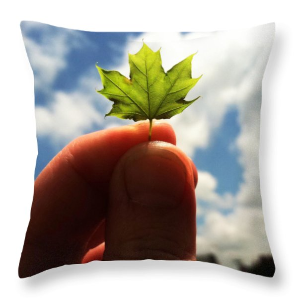 The Mighty Maple Throw Pillow by Michelle Calkins