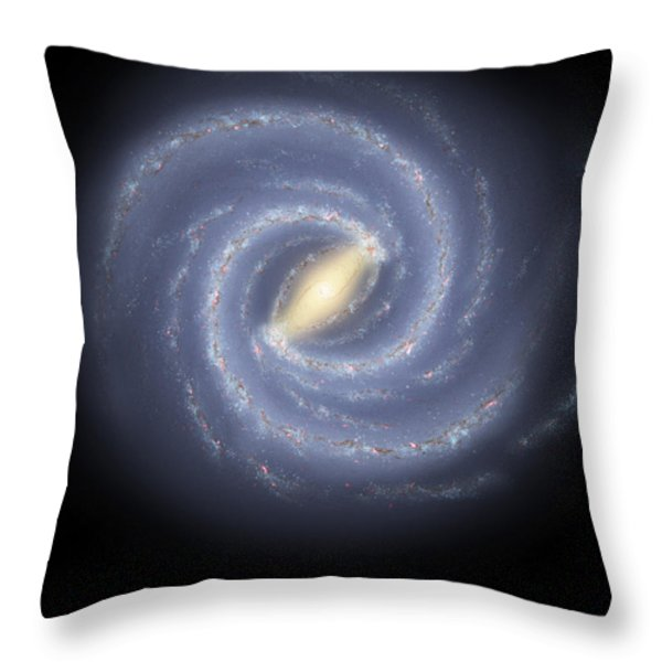 The Milky Way Galaxy Throw Pillow by Stocktrek Images