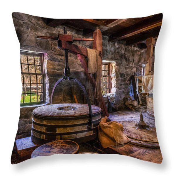 The Milling Room Throw Pillow by Mark Papke