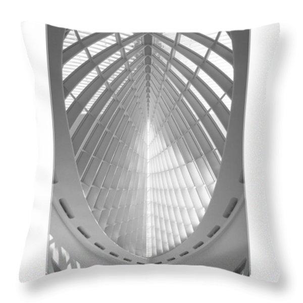 The Milwaukee Art Museum Throw Pillow by Mike McGlothlen