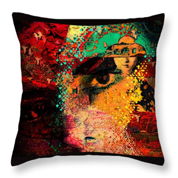 The Mind's Eye Throw Pillow by Jeff Burgess