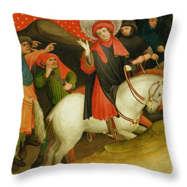 The Mocking Of Saint Thomas Throw Pillow by Master Francke