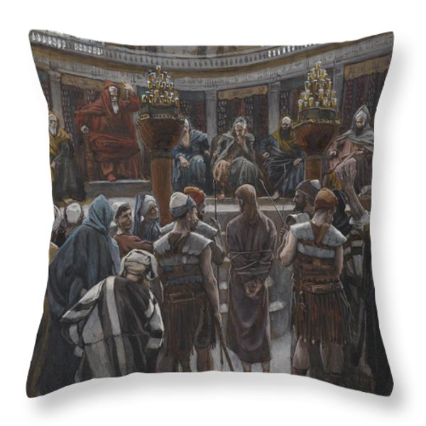 The Morning Judgement Throw Pillow by Tissot
