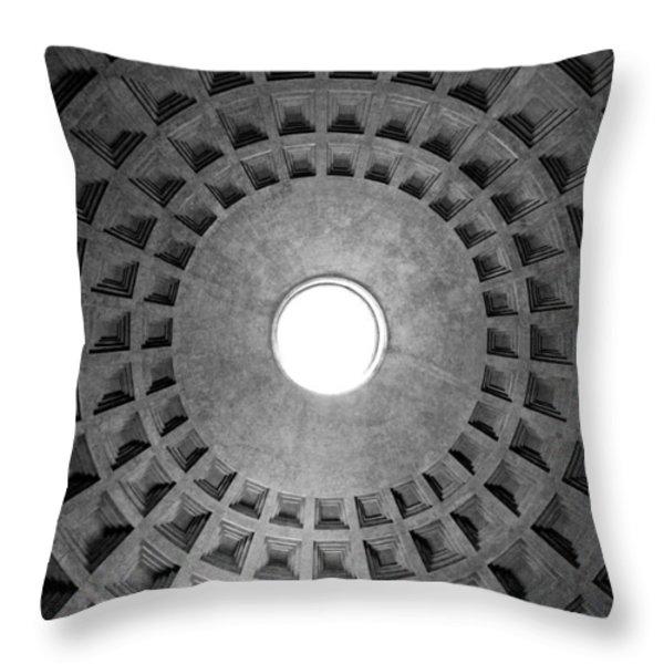 The oculus Throw Pillow by Fabrizio Troiani