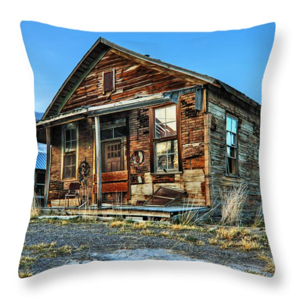 The Old Wendel General Store Throw Pillow by James Eddy