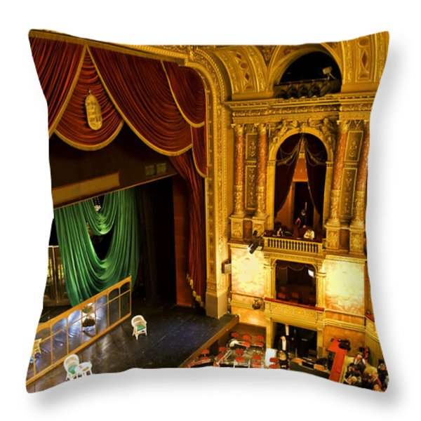 The Opera House Of Budapest Throw Pillow by Madeline Ellis