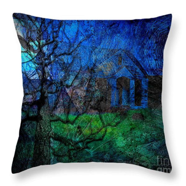 The Other Side Of Midnight Throw Pillow by Mimulux patricia no