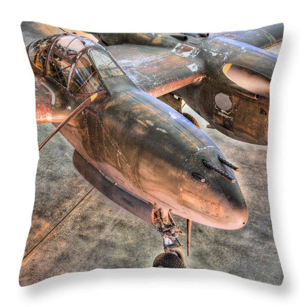 The Pacific Theater Throw Pillow by JC Findley