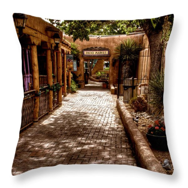 The Patio Market Throw Pillow by David Patterson