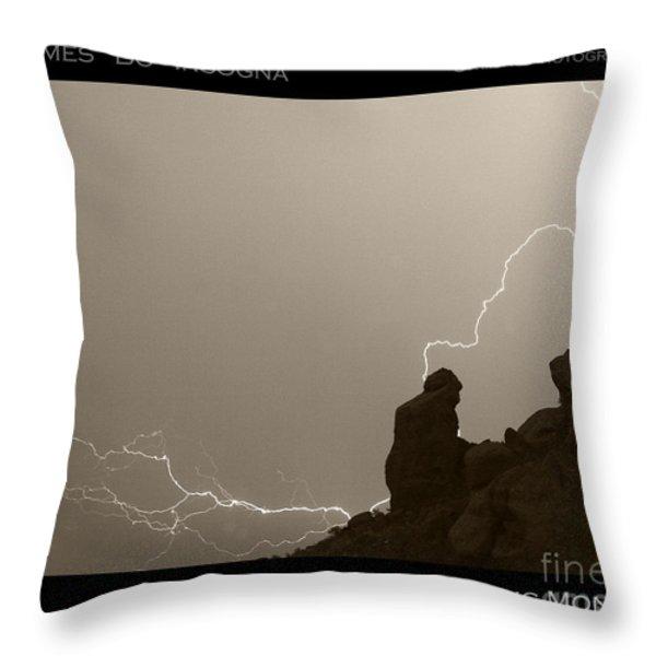 The Praying Monk Camelback Mountain Throw Pillow by James BO  Insogna
