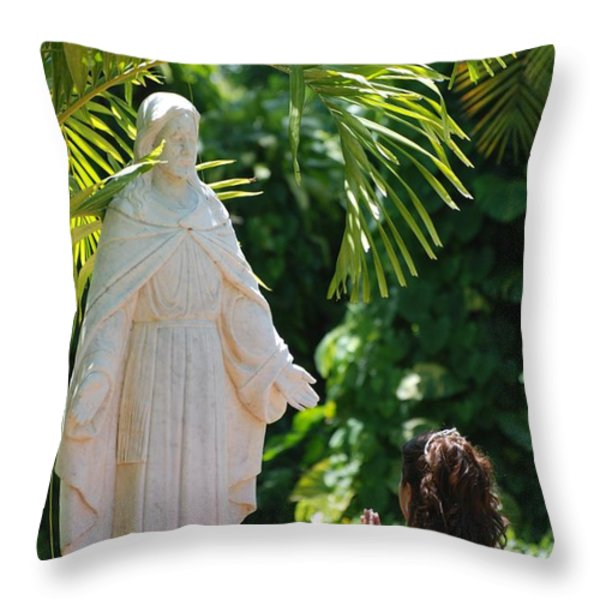 The Praying Princess Throw Pillow by Rob Hans