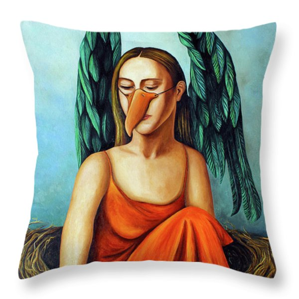 The Pretender Throw Pillow by Leah Saulnier The Painting Maniac