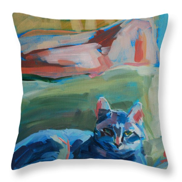 The Princess and the Pea - Sketch Throw Pillow by Kimberly Santini