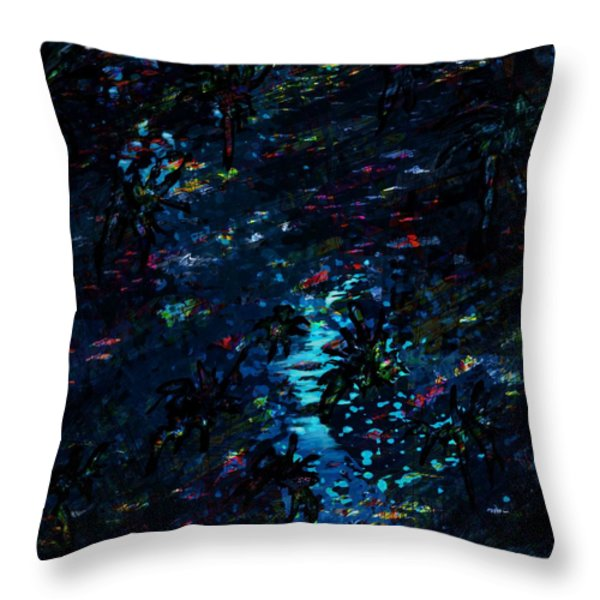 the Reef Throw Pillow by Rachel Christine Nowicki