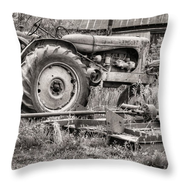 The Retirement Home Black and White Throw Pillow by JC Findley