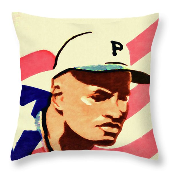 The Roberto Clemente  Throw Pillow by Lanjee Chee