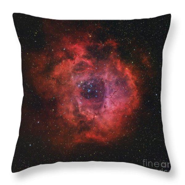 The Rosette Nebula Throw Pillow by Rolf Geissinger
