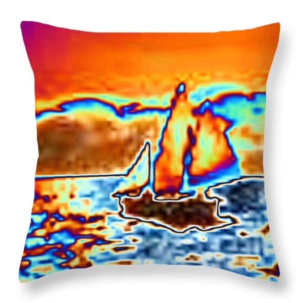 The Sail Throw Pillow by Tim Allen