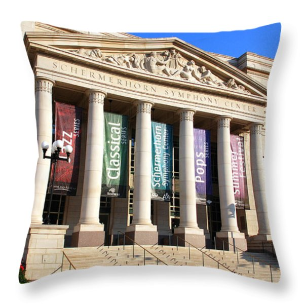 The Schermerhorn Symphony Center Throw Pillow by Susanne Van Hulst