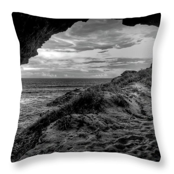 The Secret Cave Throw Pillow by Natasha Bishop