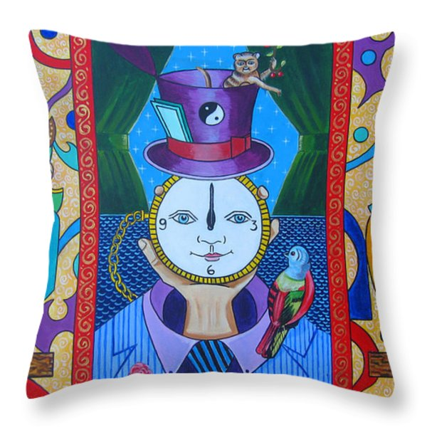 The Show Must Go On Throw Pillow by John Keaton