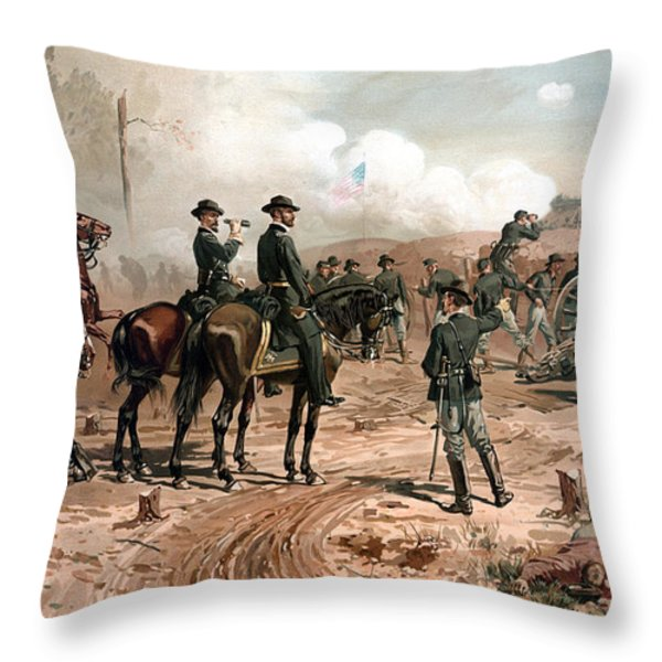 The Siege Of Atlanta Throw Pillow by War Is Hell Store