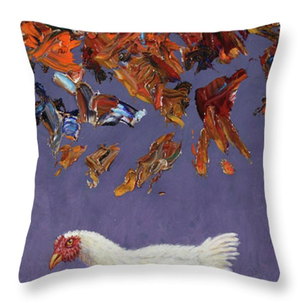 The Sky Is Falling Throw Pillow by James W Johnson