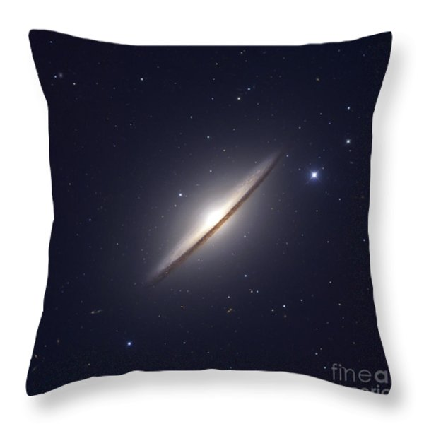 The Sombrero Galaxy Throw Pillow by Robert Gendler