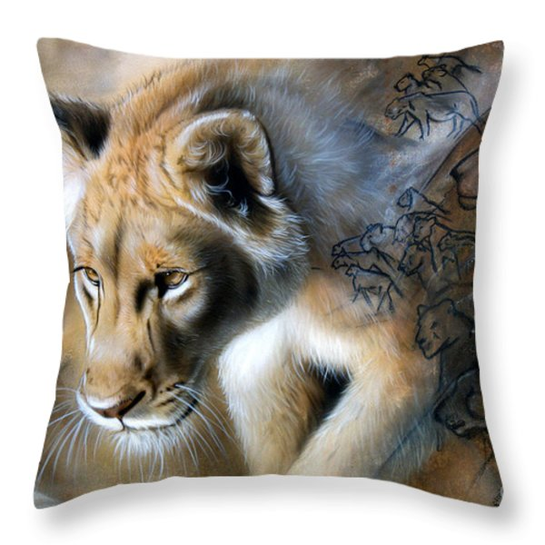 The Source Throw Pillow by Sandi Baker