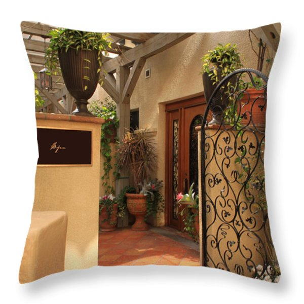 The Spa Throw Pillow by James Eddy