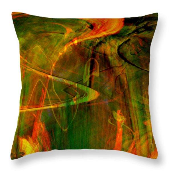 The spirit glows Throw Pillow by Linda Sannuti