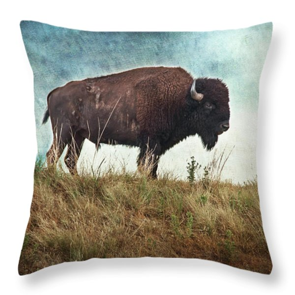 The Stance Throw Pillow by Tamyra Ayles