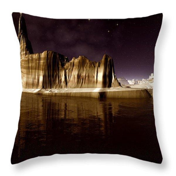 The Star of Bethlehem Throw Pillow by Heinz G Mielke
