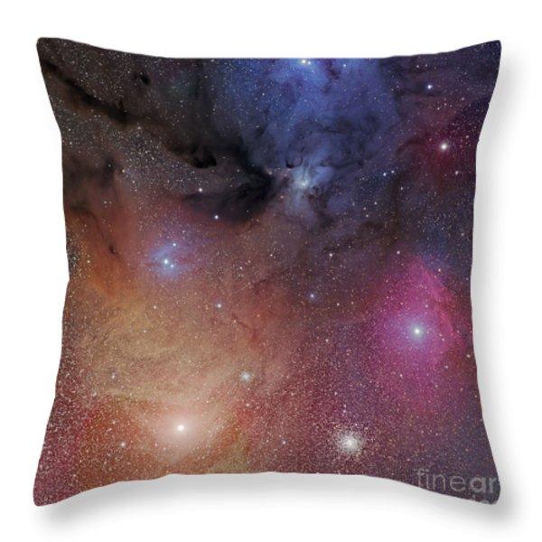 The Starforming Region Of Rho Ophiuchus Throw Pillow by Phillip Jones