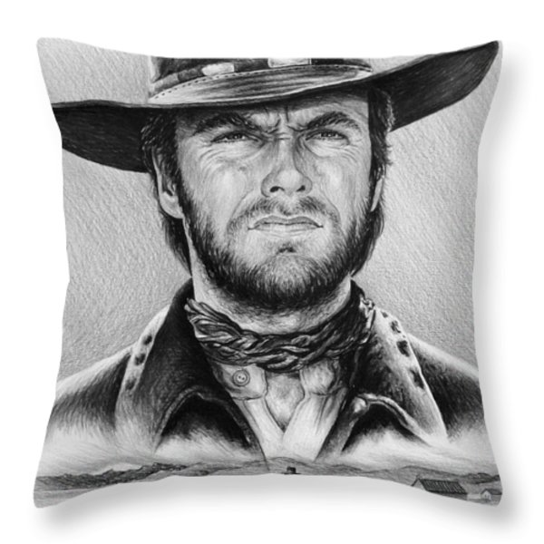 The Stranger bw 2 version Throw Pillow by Andrew Read