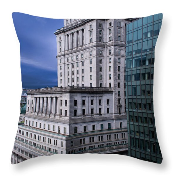The Sunlife Building In Montreal Throw Pillow by Lisa Knechtel