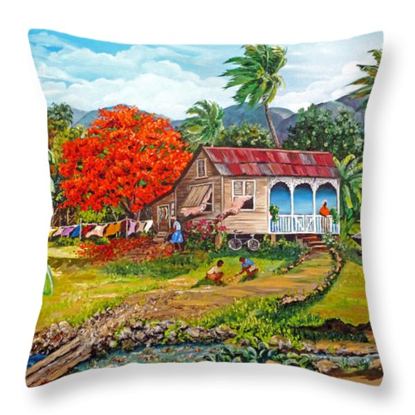 THE SWEET LIFE Throw Pillow by KARIN KELSHALL- BEST