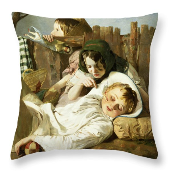 The Tease Throw Pillow by Robert Hannah