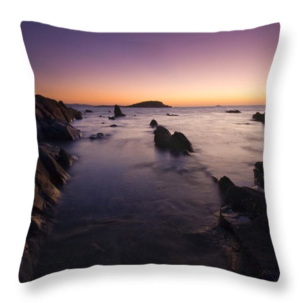 The Teeth of Twilight Throw Pillow by Mike  Dawson