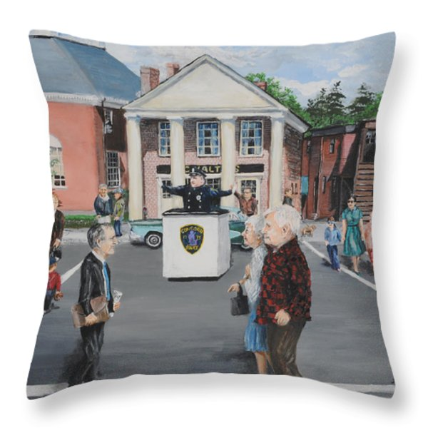 The Traffic Box Throw Pillow by Jack Skinner