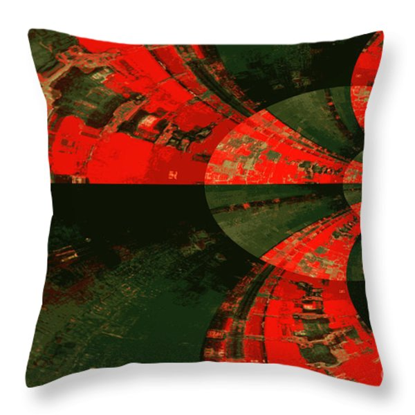 The Tube Throw Pillow by Carol Groenen