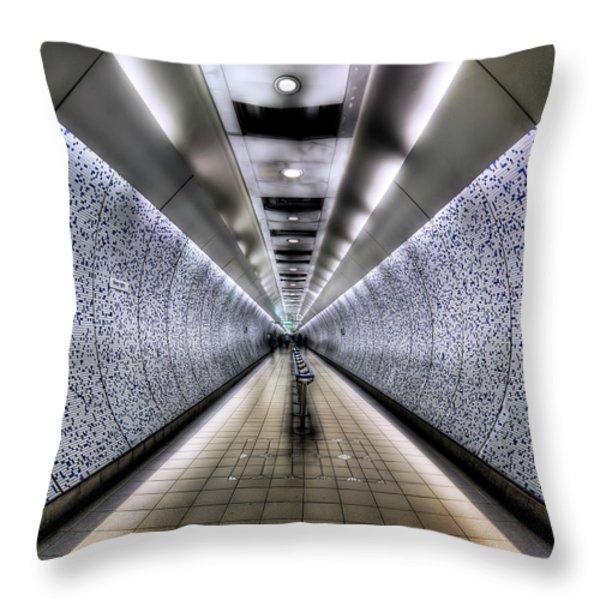 The Tube Throw Pillow by Evelina Kremsdorf
