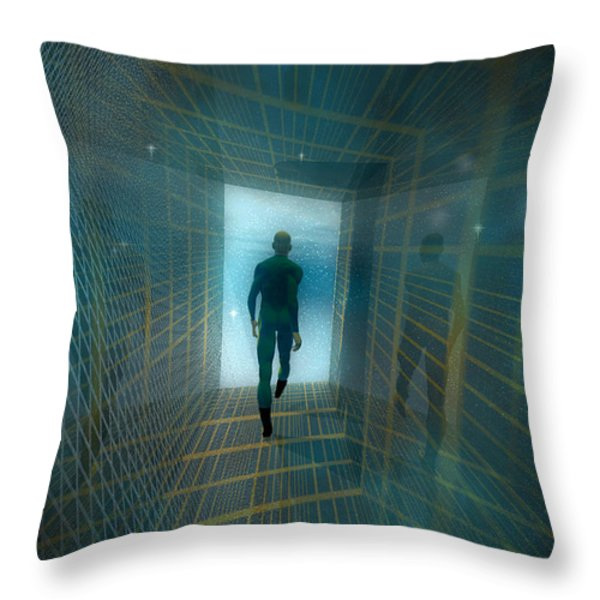 The Tunnel Throw Pillow by Carol and Mike Werner