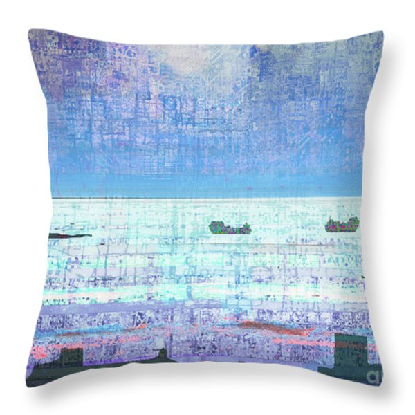 The Turn Of The Tide  Throw Pillow by Andy  Mercer