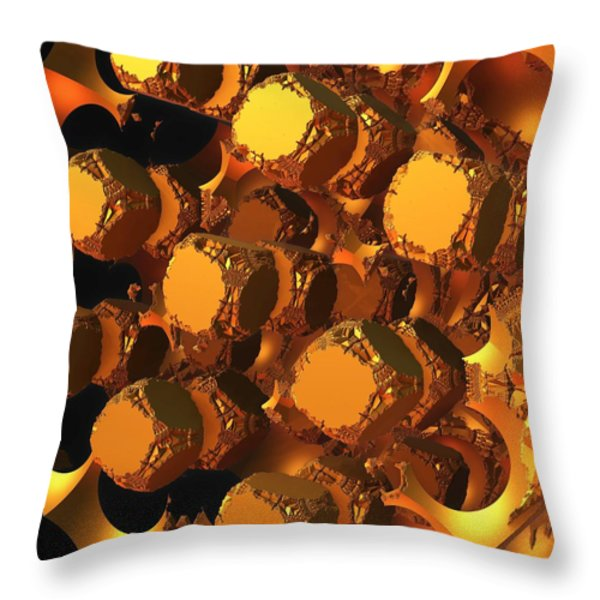The Undoing Throw Pillow by Lyle Hatch