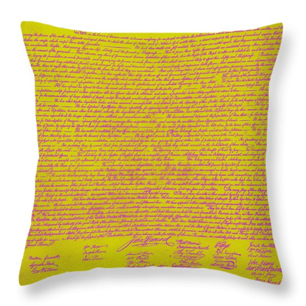 The United States Declaration of Independence 20130215m68 Throw Pillow by Wingsdomain Art and Photography