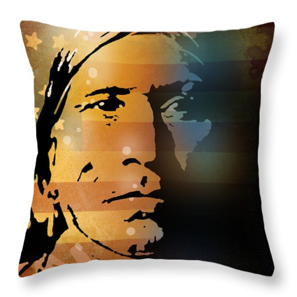 The Vanishing American Throw Pillow by Paul Sachtleben