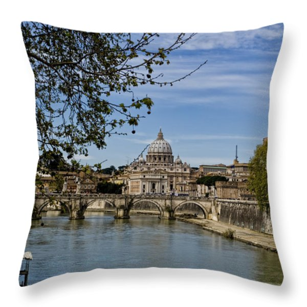 The Vatican By Day Throw Pillow by Michelle Sheppard