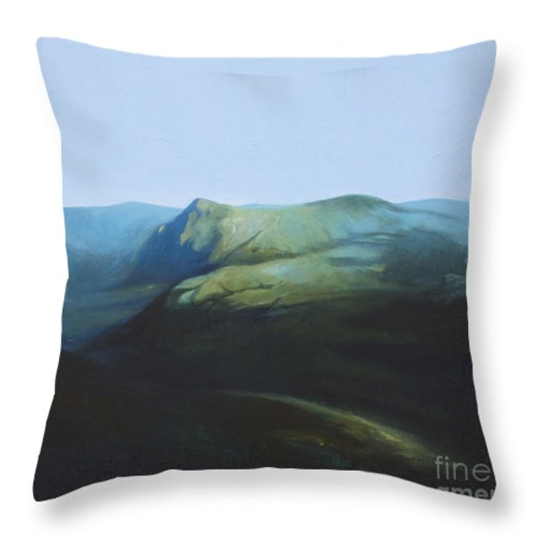 The View from Mount Tron Throw Pillow by Lin Petershagen